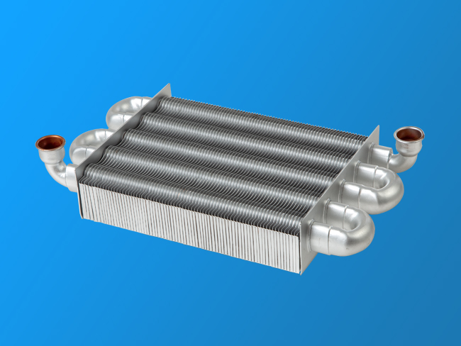 Wall - mounted five - tube single - channel fast - plug heat exchanger